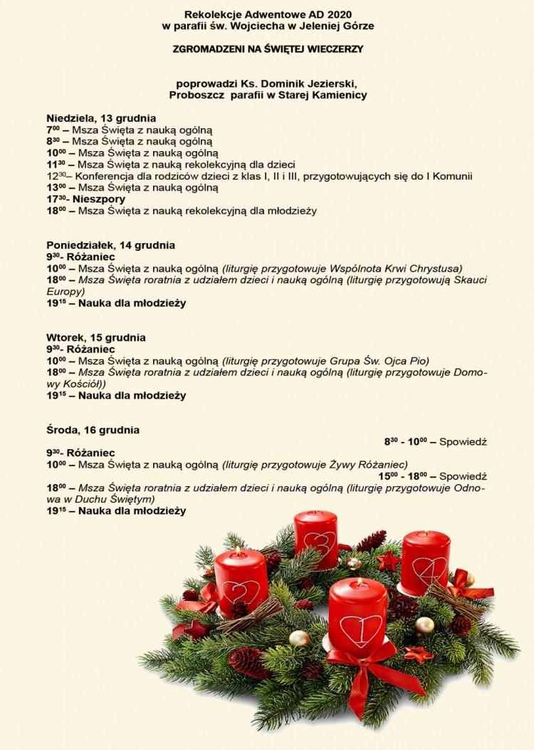 Rekolekcje Adwentowe 2020 - 06.12.2020