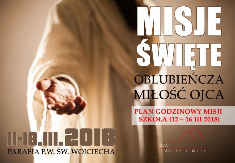 GODZINOWY PLAN MISJI 2018 - DLA SZKOŁY - 01.03.2018
