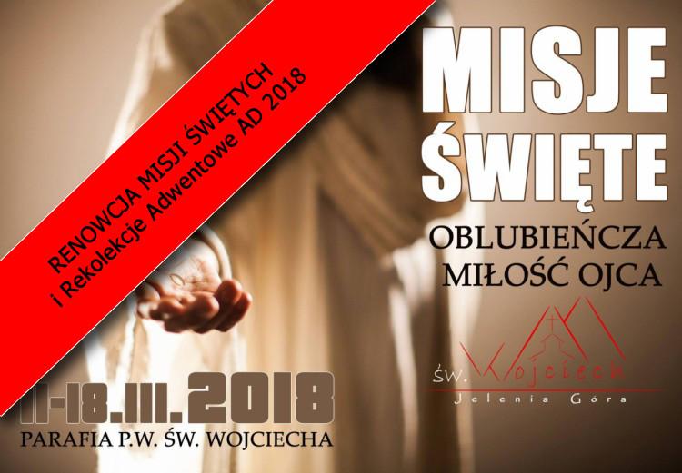 RENOWCJA MISJI ŚWIĘTYCH i Rekolekcje Adwentowe AD 2018 - 02.12.2018