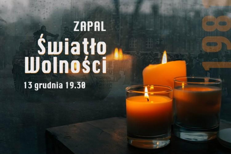 """13 grudnia – dzień modlitw za ofiary stanu wojennego i akcja """"Zapal Światło wolności"""" - 12.12.2020"""